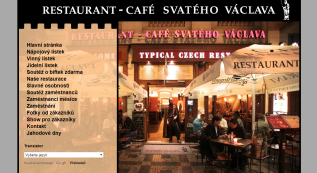 web for Restaurant Café sv. Václava