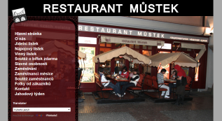 web for Restaurant Můstek