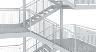 3D visualization staircase
