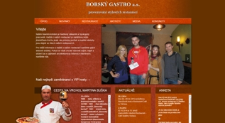 web for Borský Gastro, a. s.